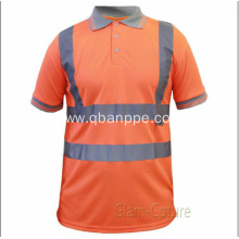 hi vis reflective safety polo t-shirt